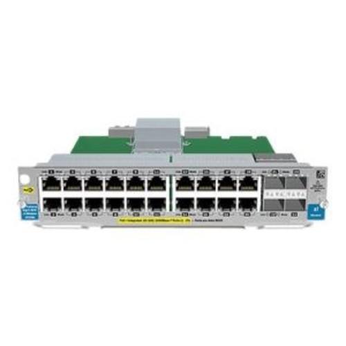 HPE 20-port Gig-T PoE+/4-port SFP v2 zl Module - Expansion module - Gigabit Ethernet (PoE+) x 20 + SFP (mini-GBIC) x 4 + 4 x SFP - for HPE 5406, 5412, 8206, 8212 (J9535A)