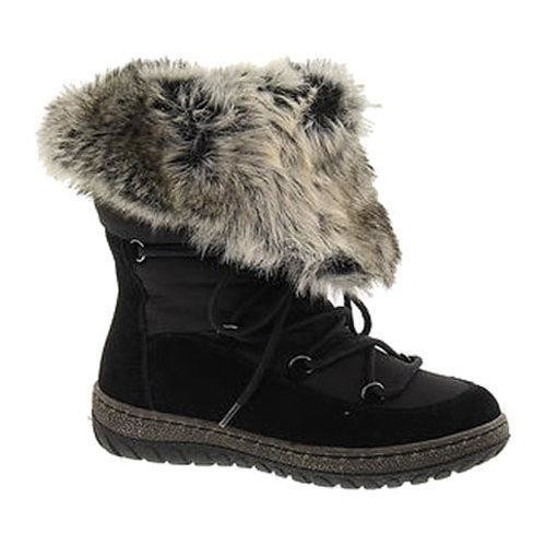 Women's Wanderlust Liv Waterproof Snow Boot Black/Black Suede [Shoe Width : m (regular)]