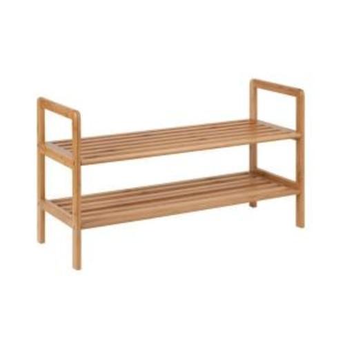 Honey-Can-Do 2-Tier 8-Pair Bamboo Shoe Shelf