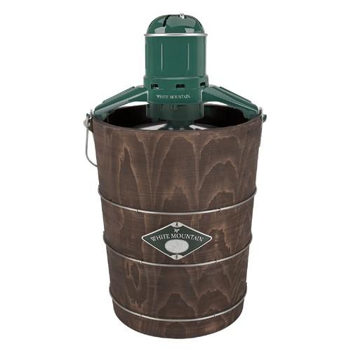 White Mountain 4010380 Electric 6 Qt. Wood Tub Ice Cream Maker