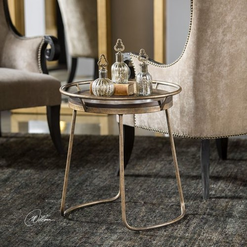Uttermost Coffee, Console, Sofa & End Tables Uttermost Rayen Round Accent Table