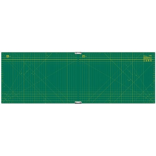 Olfa 23-Inch-by-70-Inch Gridded Cutting Mat Set Clipped [23.0 Inches]