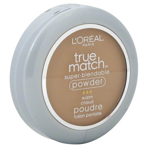L'Oreal True Match Super Blendable Powder, Warm, Sun Beige W6, 0.33 oz (9.5 g)