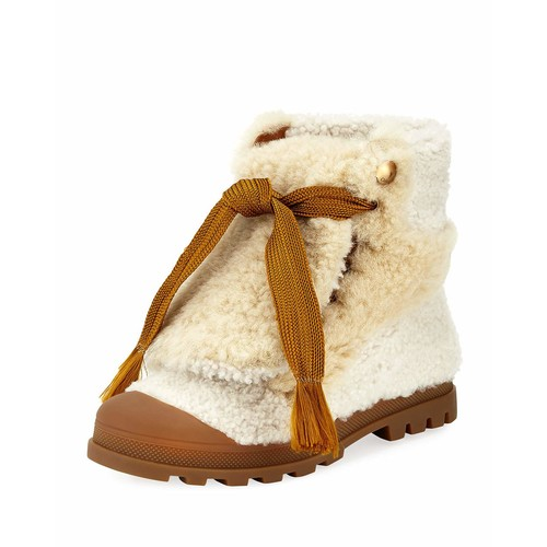 Parker Shearling Fur Lace-Up Ankle Boot