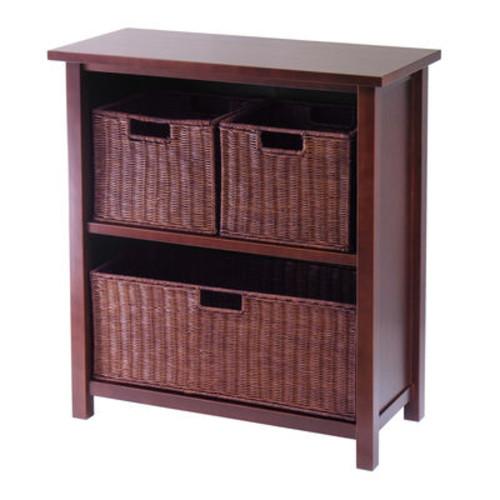 Winsome Milan 4pc Cabinet/Shelf w/ 3 Baskets