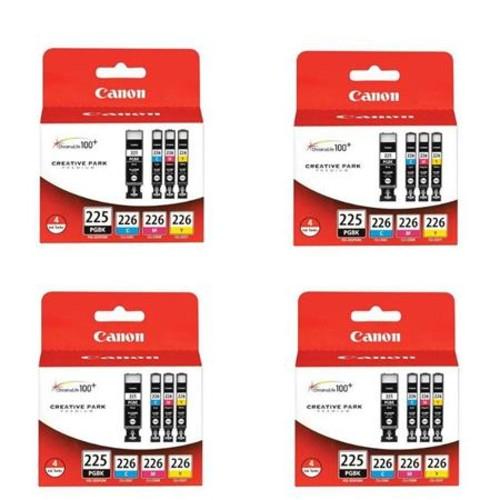 Canon 4x PGI-225 Black/CLI-226 Cyan/Magenta/Yellow, 4 Pack