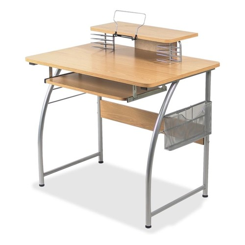Lorell Multi-Function Computer Desk, Maple