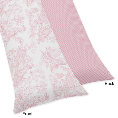 Sweet Jojo Designs Body Pillow Case for the Pink French Toile Collection by