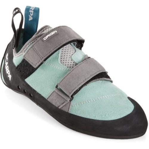 SCARPA Women's Origin Wmn Climbing Shoe [Green Blue/Smoke, 39 M EU / 7.5 B(M) US]