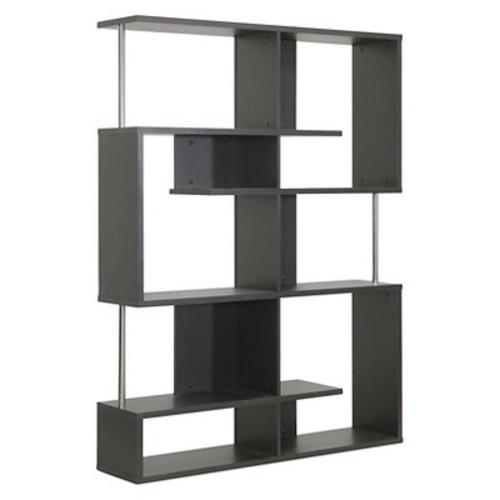 Kessler Modern Bookshelf Tall Height Dark Brown - Baxton Studio
