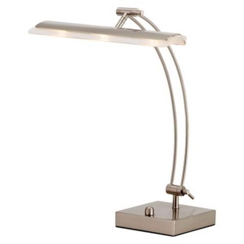 Adesso Esquire 19 in. H Satin Steel LED Desk Lamp