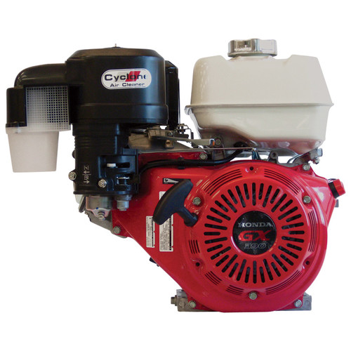 Honda Horizontal OHV Engine with Cyclone Air Cleaner  389cc, GX Series, 1in. x 3 31/64in. Shaft, Model# GX390UT2QC9