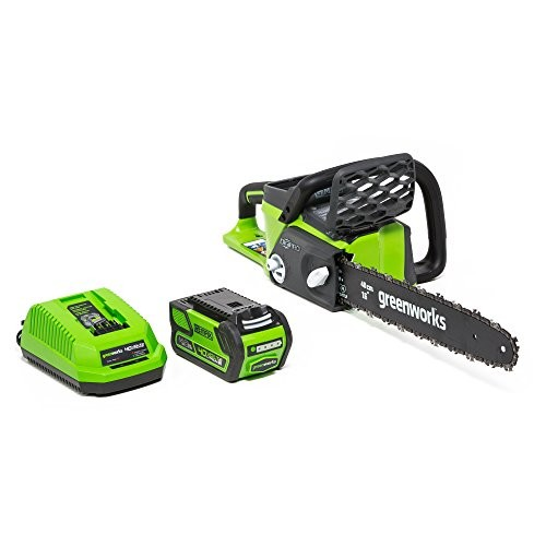 GreenWorks 20312 G-MAX 40V 16-Inch Cordless Chainsaw, 4AH Battery and a Charger Included [40V 4AH GMAX Battery + Charger]