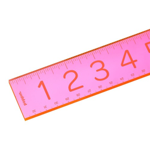 Poppin Neon Pink Acrylic Ruler