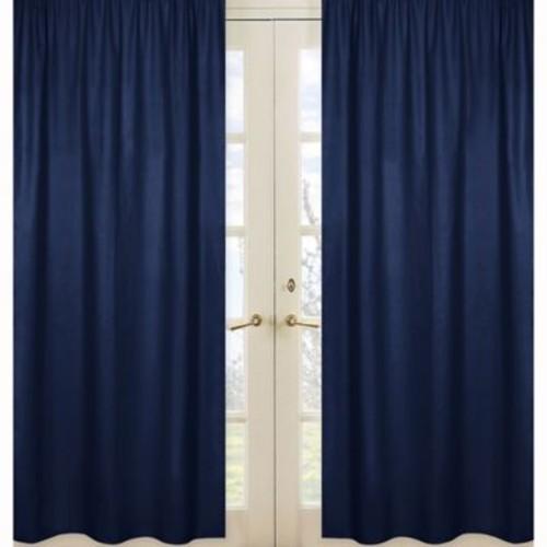 Sweet Jojo Designs Window Panel Pair in Navy