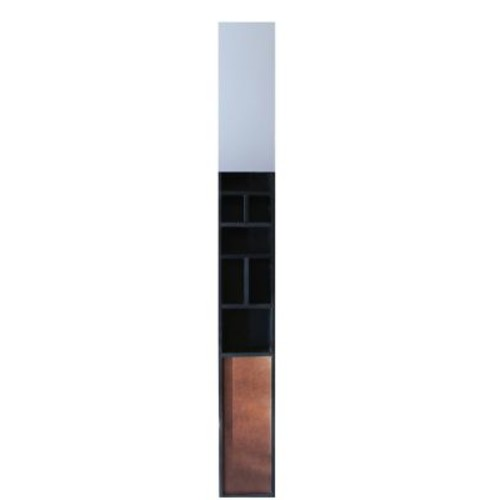 Nexxt PN17800-9INT Rectangle Frameless Wall Mirror with Wood Shelf