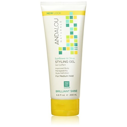 Andalou Naturals Sunflower & Citrus Brilliant Shine Styling Gel, 6.8 Ounce [6.8 oz]