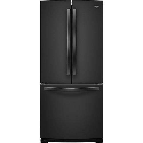Whirlpool WRF560SMYB 19.6 Cu. Ft. Black French Door Refrigerator - Energy Star
