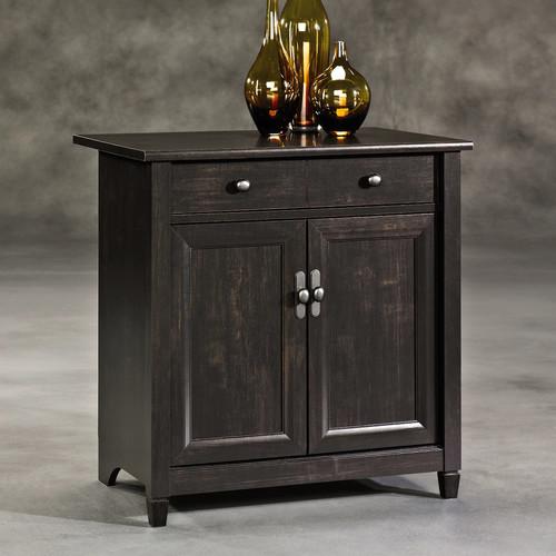 Sauder Edge Water Utility Cart/Free Standing Cabinet, Estate Black Finish [Estate Black, FURNITURE]