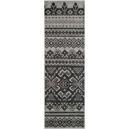 Safavieh Adirondack Silver/Black 2 ft. 6 in. x 12 ft. Runner