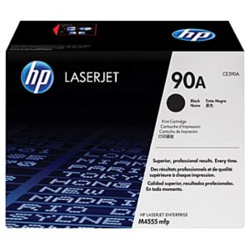 HP 90A Black Toner Cartridge - Laser Printing Technology, 10,000 Page Yield, Black, For LaserJet Enterprise 600 M601, 600 M602, 600 M603, M4555 - CE390A