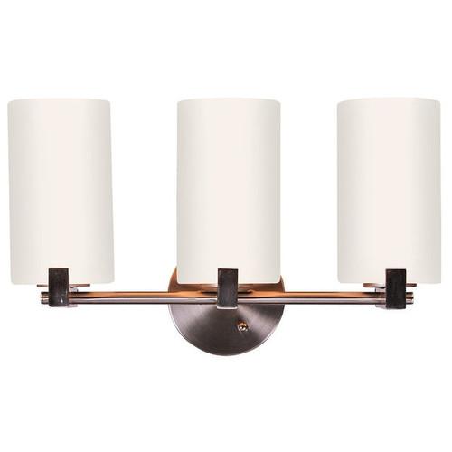 Design House 573147 Eastport 3-Light Vanity Light, Satin Nickel