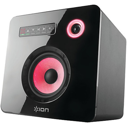 ION Flash Cube Speaker System - 50 W RMS - Wireless Speaker(s) - Bluetooth - LED Lights, Wireless Audio Stream