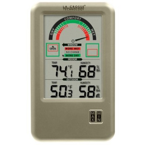 La Crosse Technology WS-9170U-IT-CBP Digital Indoor Comfort Station with temperature & humidity