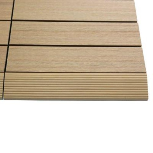 TechWood 1/6 ft. x 1 ft. Quick Deck Composite Deck Tile Straight Trim in Canadian Maple (4-Pieces/Box)