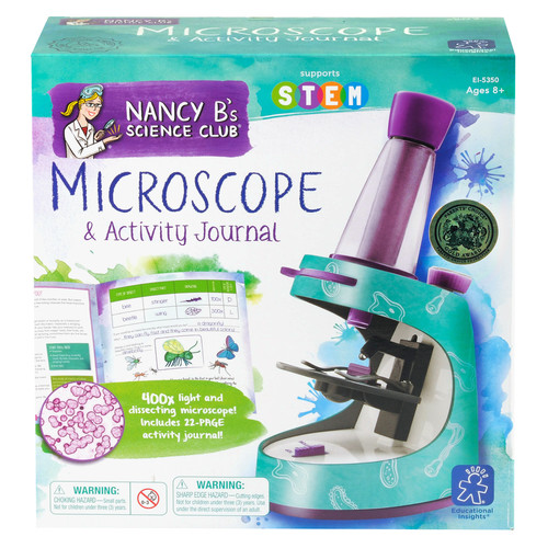 Educational Insights Nancy B Science Club Microscope & Activity Journal
