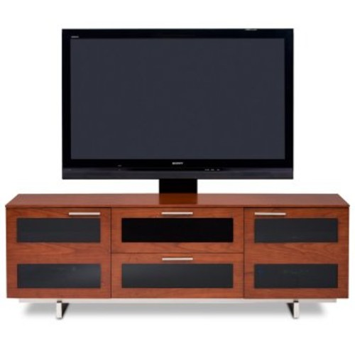 Avion Series II Triple-Wide Media Cabinet [Finish : Natural Stained Cherry]