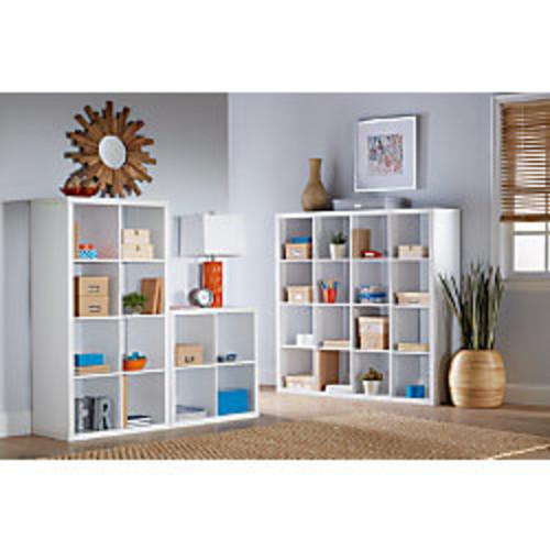 Brenton Studio Cube Bookcase, 4-Cube, Small, White