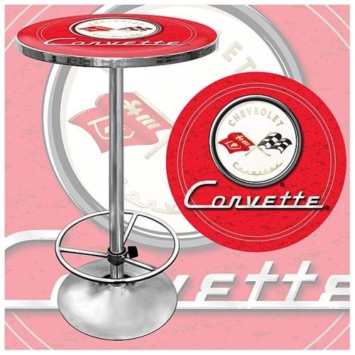 Trademark Global Corvette C1 Pub Table - Red