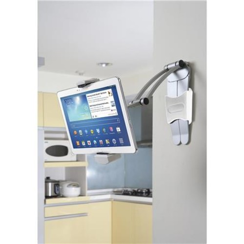 CTA Digital PAD-KMS 2-in-1 Kitchen Mount Stand for iPad & Tablets PAD-KMS