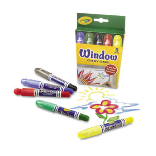 Crayola Washable Window Crayons 5/Set