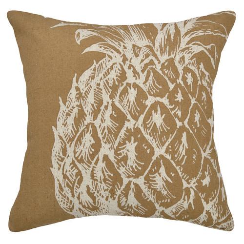123 Creations Modern Pineapple Linen Throw Pillow