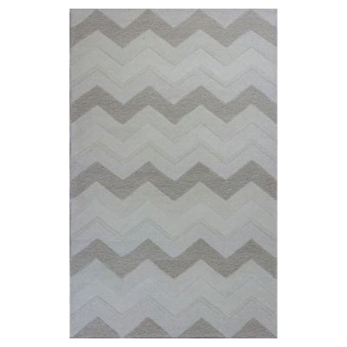 Kas Rugs Chevron Style Ivory 2 ft. 3 in. x 3 ft. 9 in. Area Rug