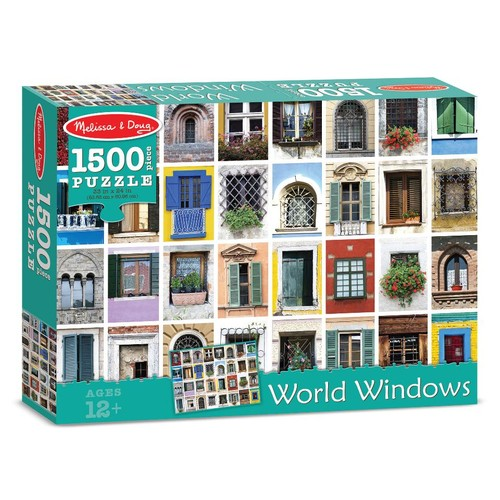 Melissa & Doug World Windows Cardboard Jigsaw Puzzle - 1500 piece