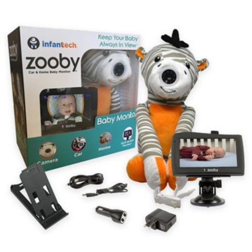 Zooby by InfantTech Zebra Car and Home Baby Monitor