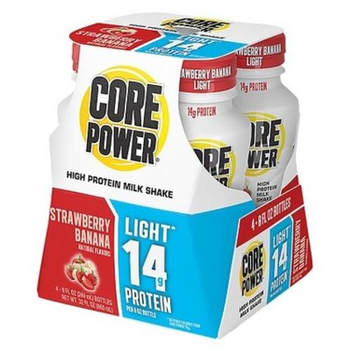 Core Power Strawberry Banana High Protein Milk Shake - 4 Count