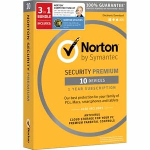 Norton Security Premium (10 devices) + Norton Utilities (3 PCs) + Norton Computer Tune-Up Bundle