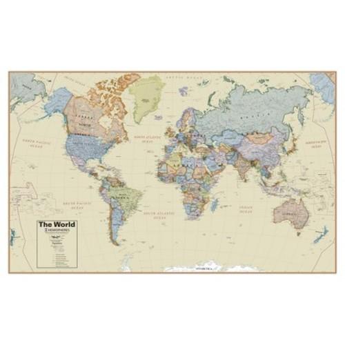 Hemispheres Boardroom World 1:27 Wall Map