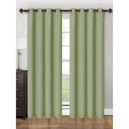 Kashi Home Parker Single Curtain Panel; Sage