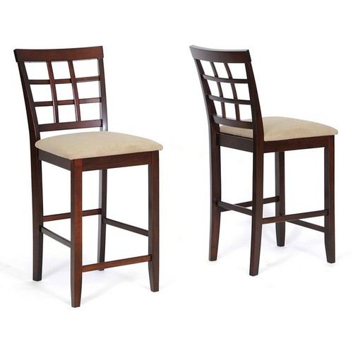 Baxton Studio 2-Piece Katelyn Modern Counter Stool Set