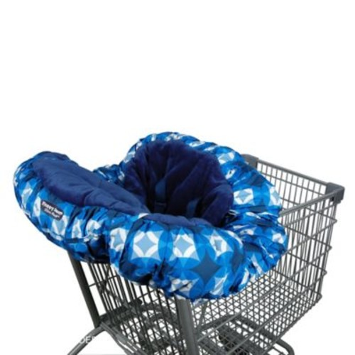 Floppy Seat Shopping Cart Cover in Blue/White