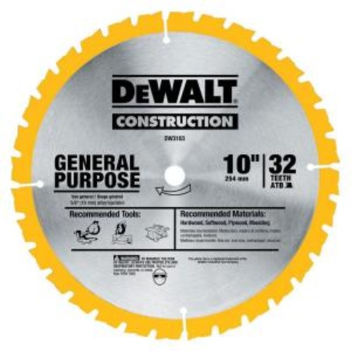 DEWALT Construction 10 in. 32-Teeth Saw Blade