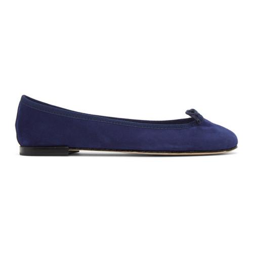 REPETTO Blue Suede Cendrillon Ballerina Flats
