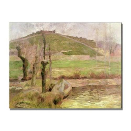 Trademark Fine Art Paul Gauguin 'Landscape near Pont Aven' Canvas Art 24x32 Inches