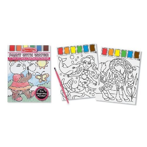 Melissa & Doug Paint With Water Kids' Art Pad With Paintbursh - Playtime, Fairies, Animals, and More [Playtime, Fairies, Animals, and More]