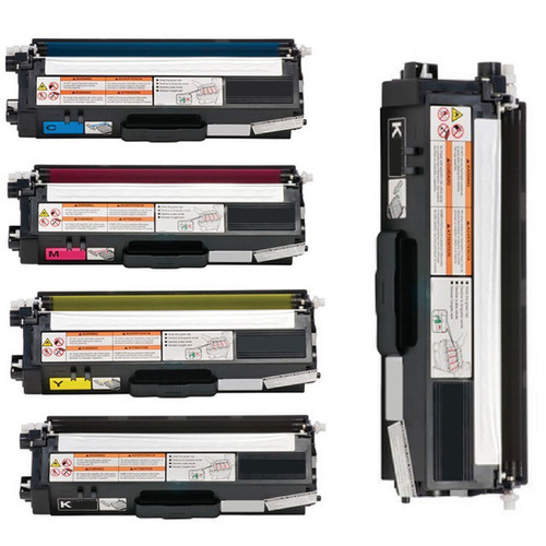 5-pack Replacing Brother TN-310BK 310C 310Y 310M Black Cyan Magenta Yellow Toner Cartridge
